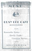 Busy Bee Cafe Menu Cover Page