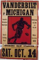 Vanderbilt vs. Michigan football poster