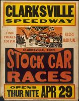 Clarksville Speedway Stock Car Races