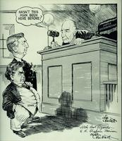 Politcal cartoon of Thomas C. Clark and John L. Lewis