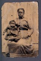 Tintype of African American mother and child