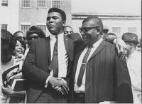 Coach Edward S. Temple and Muhammed Ali at Tennessee A & I State University