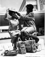 Edith McGuire and Wyomia Tyus preparing to travel to the 1964 Olympic Games in Toyko