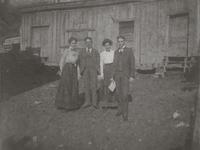Individuals behind May's Store in Jonesborough, Tennessee