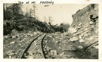 Building a railroad in Campbell County, Tennessee.