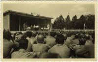 Martha Tilton in Munich during USO Show, July 1945