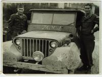 Marshall Jones and Roy Joe Baxter with Jeep