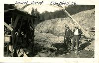 Building a bridge over Laurel Creek in Campbell County, Tennessee