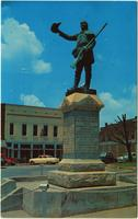 Statue of Davy Crockett at Lawrenceburg, Tennessee