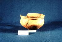 Photograph of small ceramic bowl excavated at Chota, taken in 1969