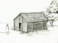 Drawing depicting a late 18th century Cherokee domestic structure