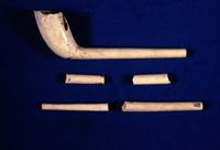 Photograph of mid-18th century kaolin smoking pipes recovered at Chota