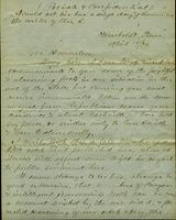 Letter from W.H. Stilwell to Gov. Brownlow