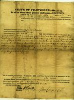 Land Grant to James Martin, assignee of Floyd Bostick