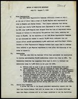 NAACP Report of Executive Secretary, July 11th thru August 7th, 1962