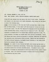 Press release from the Memphis Branch of the NAACP, Dec. 17, 1961