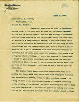Correspondence between Winton, G.B. in Nashville, TN and Frazier, J.B. in Washington, D.C.