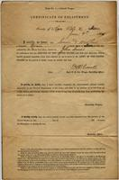 Certificate of enlistment for John Lenoir in the U.S. Colored Troops