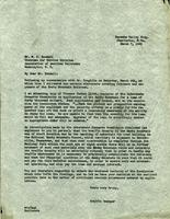 Letter from Traffic Manager to Mr. W. C. Kendall
