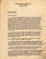 Letter from Joe Silverstein to Mr. Frank Parks
