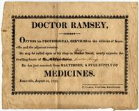 Notice of Ramsey`s medical services