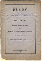 Rugby, Morgan county, Tennessee settlement founded October 5th, 1880