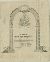 Invitation to a ball honoring General Lafayette, 1825