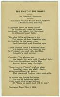 Poem by Charles Simonton dedicated to Woodrow Wilson