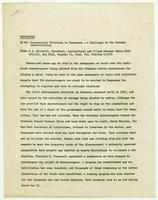 Memorandum on sharecropper evictions in Tennessee