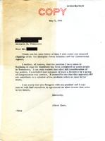 Letter on Segregation, 2