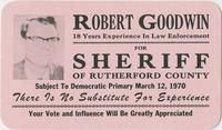 Robert Goodwin for Sheriff of Rutherford County