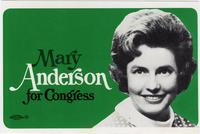 Mary Anderson for Congress Postcard