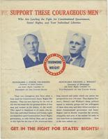 Get in the Fight for States` Rights! Thurmond-Wright Presidential Campaign, 1948