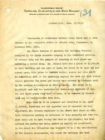 Memorandum between Henry Ehret and J. Fred Johnson