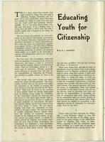 Educating Youth for Citizenship