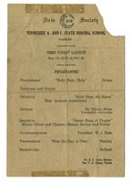 Sais Society of Tennessee A [amp] I State Normal School, Sunday Service program and photograph, 1921