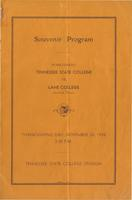 Homecoming Souvenir Program, Tennessee State College, 1938