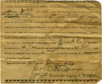 Contract between E. C. Morrow [amp] Bro. and York Liggan for advanced sale of tobacco crop