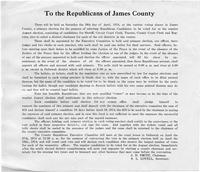 Republican ad of James County