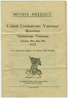 Confederate Veterans` Reunion song sheet