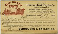 Receipt from Burroughs [amp] Taylor Co.