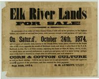 Elk River Lands for Sale Notice