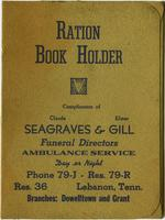 World War II Ration Bookholder