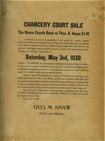 Chancery Court Sale of Thos. A Hayes Et Al Land