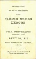 Twenty-sixth Annual Meeting of the White Cross League of Fisk University