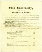 Fisk University Announcement, 1872
