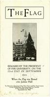 Remarks by the President of Fisk University, The Flag