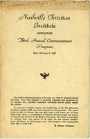 Nashville Christian Institute Commencement Program, 1947