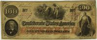 Confederate One Hundred Dollar Bill