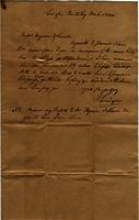 Letter to Ferguson and Lenoir at the Lenoir Post Office in Roane County, Tennessee